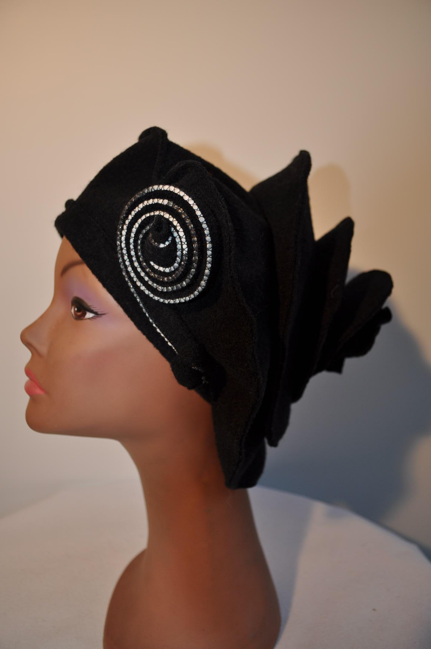 Chapeaux en laine bouillie