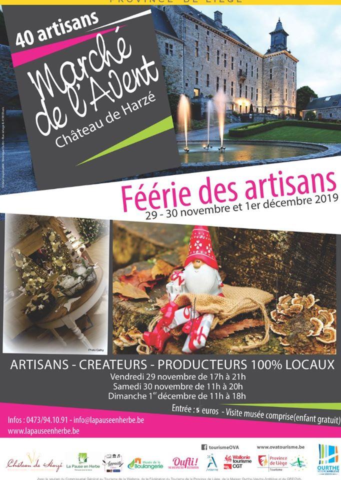 «Féérie des artisans» Marché de l'Avent au château de Harzé