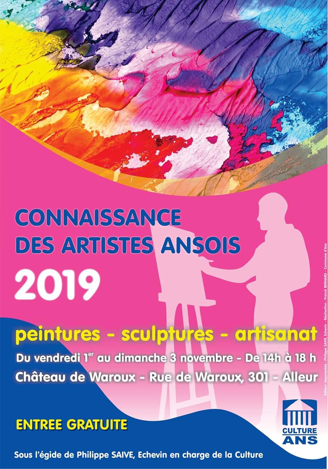 Connaissance de artistes ansois 2019
