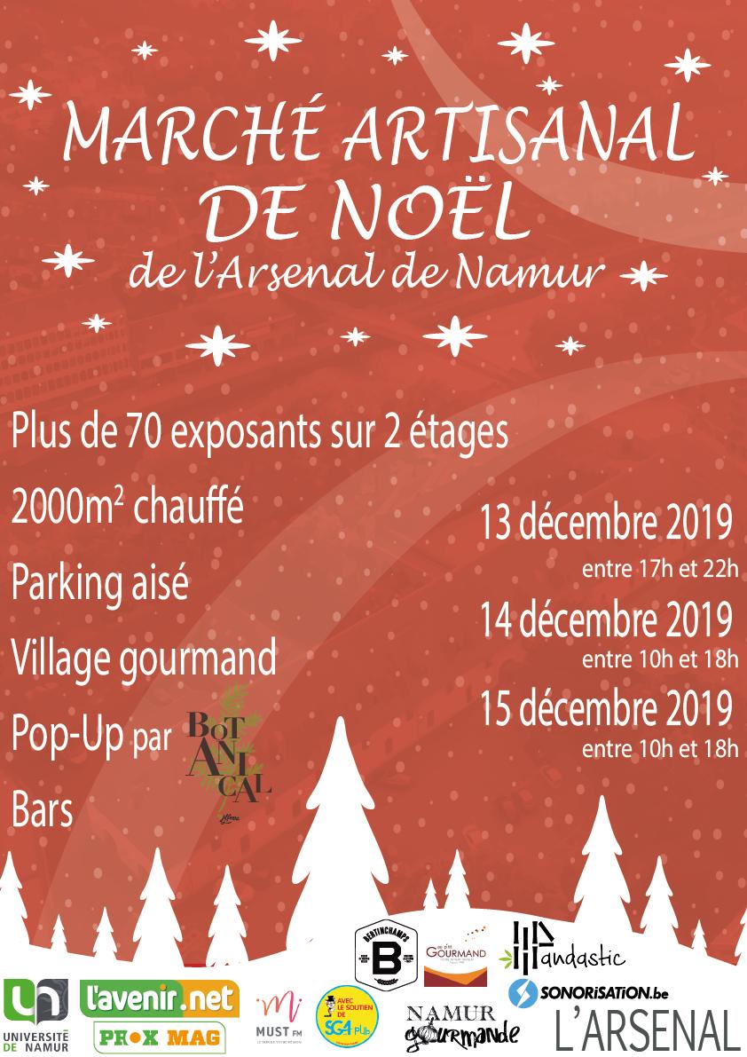 Marché artisanal de Noël de l'Arsenal de Namur
